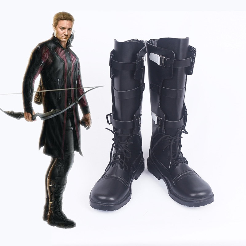 The Avengers: Age of Ultron Hawkeye Cosplay Stivali Scarpe Hawkeye Costume Cosplay Puntelli Accessori Uomini Adulti Su ordine