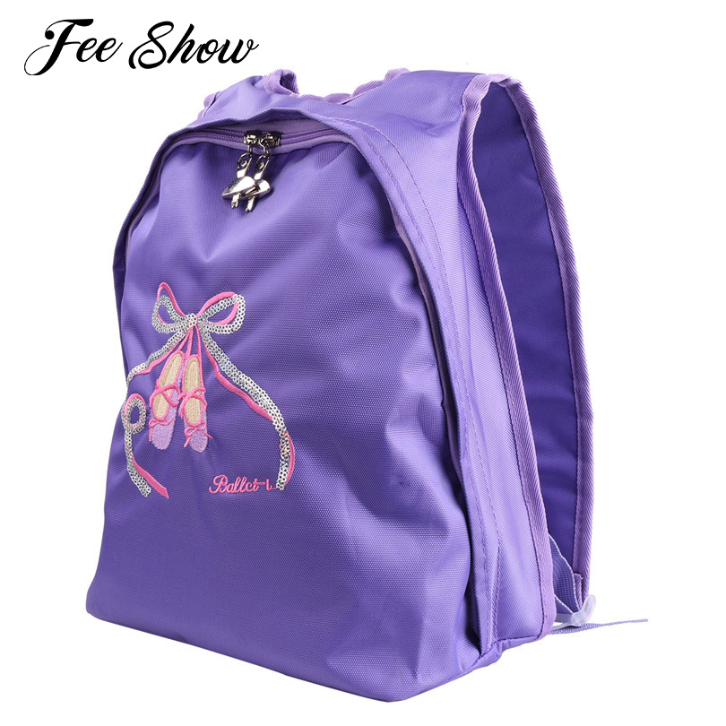 Professional Ballerina Ballet Dance Ballet Bag School Backpack Toe Shoes Embroidered Sports Shoulder Dance Bag Girls Ballet Bags