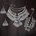 Vintage Tibetan silver Vintage Coin Style Ethnic necklace Earrings Bracelet Any One 1pc Party Gift For Women