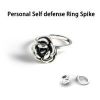 Для женщин на открытом воздухе Личная самооборона Роза кольцо со стержнем анти-волк защитить себя металлический Роза кольцо разбитые окна