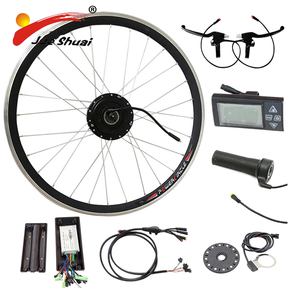 Фото 36V Motor Electric Bike Kit Electric Bicycle Conversion Kits Without Battery Waterproof LED Display Throttle Refit(CK-NB01)