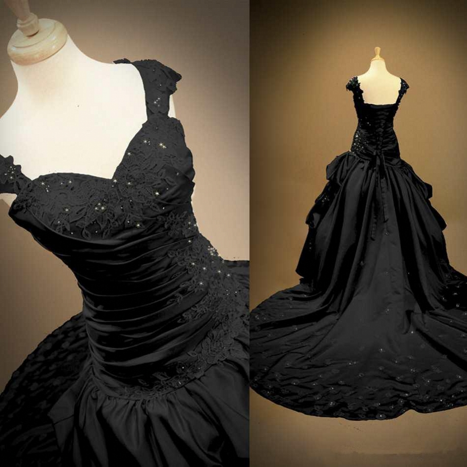 Popular Black Gothic Ball Gown-Buy Cheap Black Gothic Ball Gown ...
