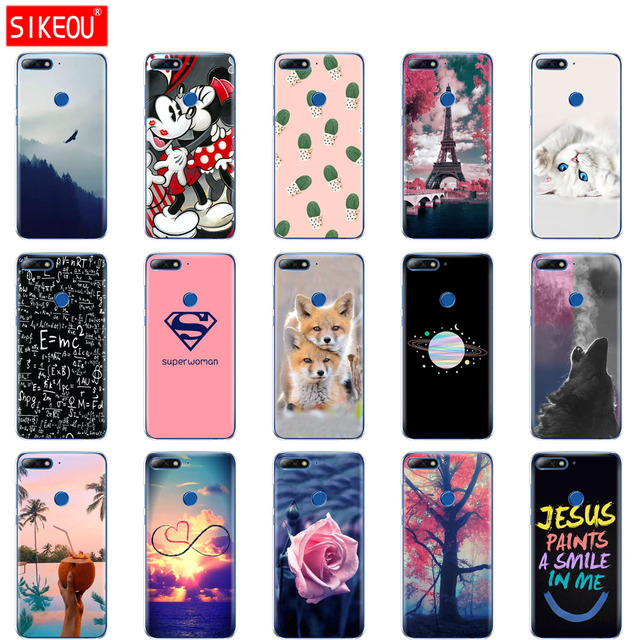 more photos fae7d 66e6b US $1.21 24% OFF|silicone case for huawei Y7 2018 case for Y7 Prime 2018  case soft tpu cover for huawei Y 7 prime 2018 phone protection shell-in ...