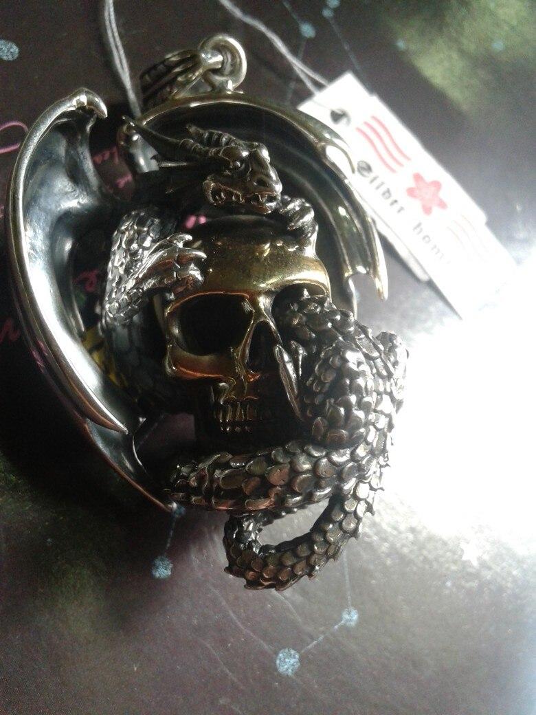 Dagor bragollach gv 925 pure silver skull pendants