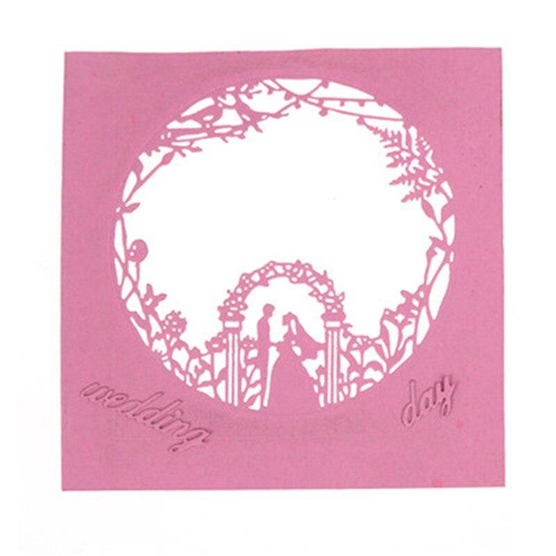 Metal cutting dies for scrapbooking Wedding frame flowers Snowflake Cutting Dies Stencils DIY embossing folders Album Paper Card