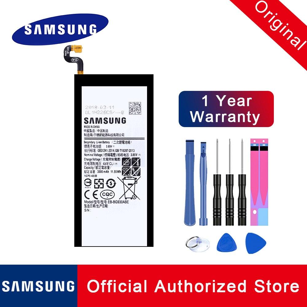 100% bateria de substituição original EB-BG930ABE para samsung galaxy s7 SM-G930 batteria akku + rastreamento não 8 em 1 kit ferramentas 3000 mah