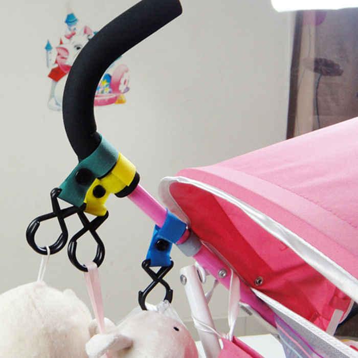 รถเข็นเด็กทารก Pram Pushchair Hanger ตะขอแขวนสีสุ่ม Comfort รถเข็นเด็กอุปกรณ์เสริม