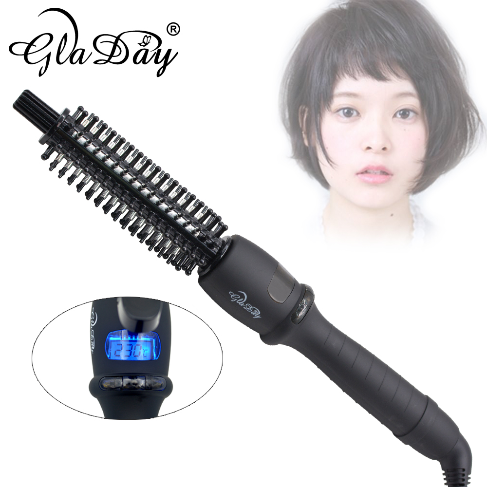 Image 2 - Ceramic Hair Brush Professional Electric Hair Brush Hair Curlers Rollers Hair Curling Irons-in Curling Irons from Home Appliances