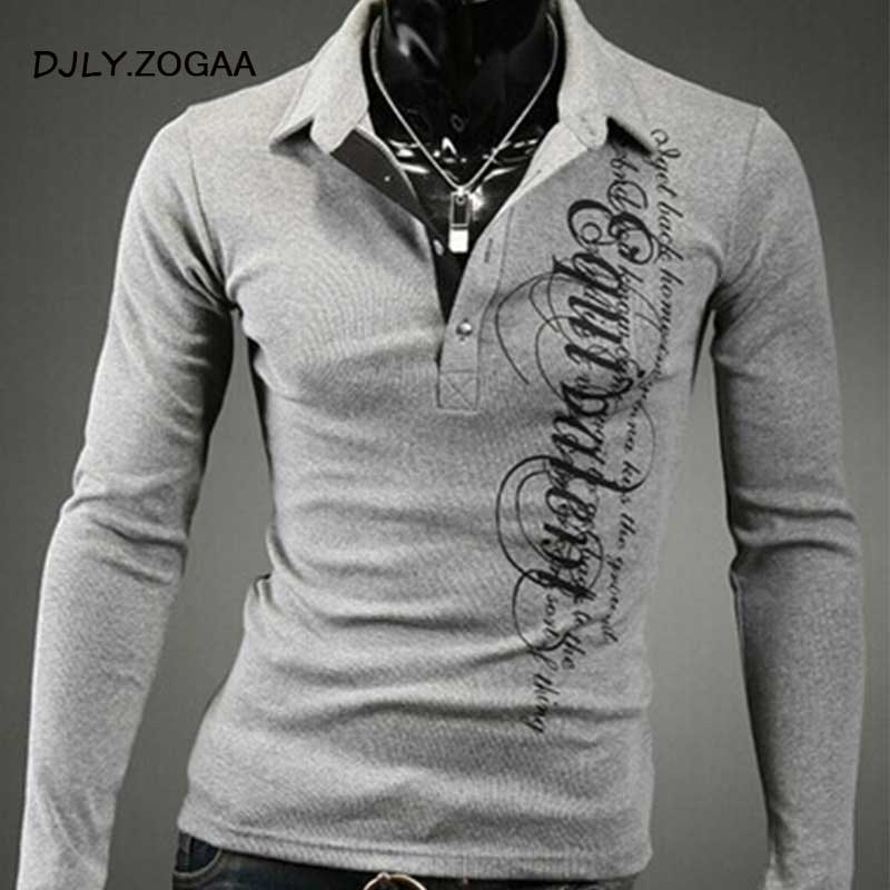 ZOGAA  2019 Casual Long Sleeve Business Mens Shirts Male Striped Fashion Brand Polo Shirt Designer Men  Long-Sleeve Tenis Polos
