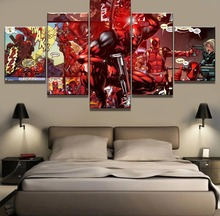 5 Piece Canvas Art Deadpool Movie Cuadros Decoracion Paintings on Wall for Home Decorations Decor Framework