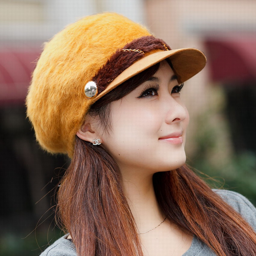 1e1b6c3c Winter hat female rabbit fur hat knitted ear knitted hat autumn and ...
