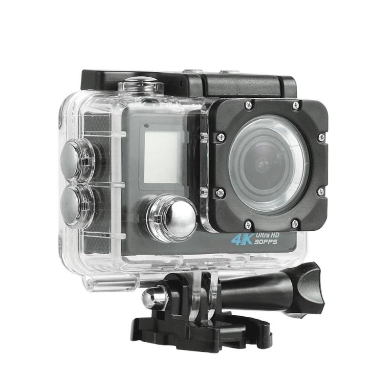Action Camera UHD 4KWide Angle Lens 30m Waterproof 2inch LCD Dual Screen Sensor Remote Control HD Sport DV 2.4G Sport Camera