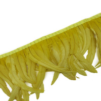 Wholesale 30 35CM yellow cock feather cloth side Coque feather trim with DIY dress skirt decoration accessories