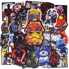 50 Stks/pak Nieuwe Super Cool Star Wars Stickers Voor Bagage Laptop Decal Skateboard Stickers Moto Fiets Auto Gitaar Koelkast Sticker(China)