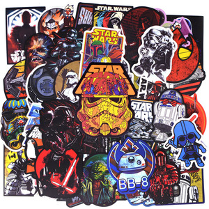50pcs/pack New Super Cool Star Wars Stickers for Luggage Laptop Decal Skateboard Stickers Moto Bicycle Car Guitar Fridge Sticker(China)
