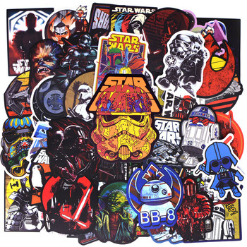 50pcs/pack New Super Cool Star Wars Stickers for Luggage Laptop Decal Skateboard Stickers Moto Bicycle Car Guitar Fridge Sticker embroidery