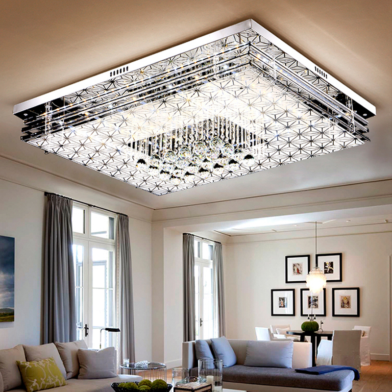 Master Bedroom Area Rugs Led Strip Lighting Bedroom Bedroom Design Pakistan Bedroom Interior As Per Vastu: Led Living Room Crystal Lamp Rectangle Ceiling Lamp Master
