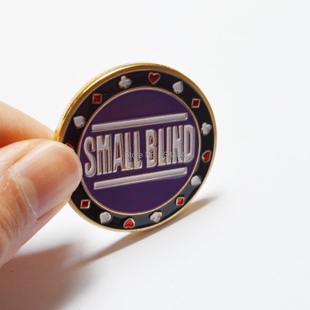Poker Cards Guard Protector, Metallmünze mit Kunststoffabdeckung Metallchip Small Blind