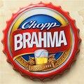 40 CM CHOPP BRAHMA beer bottle cap home decorative iron painting ornaments bar cafe wall hanging metal craft