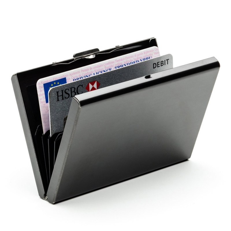 High QualitId Men's Wallets Credit card holder Automatic card sets business stainless steel wallet card sets cash clip holder