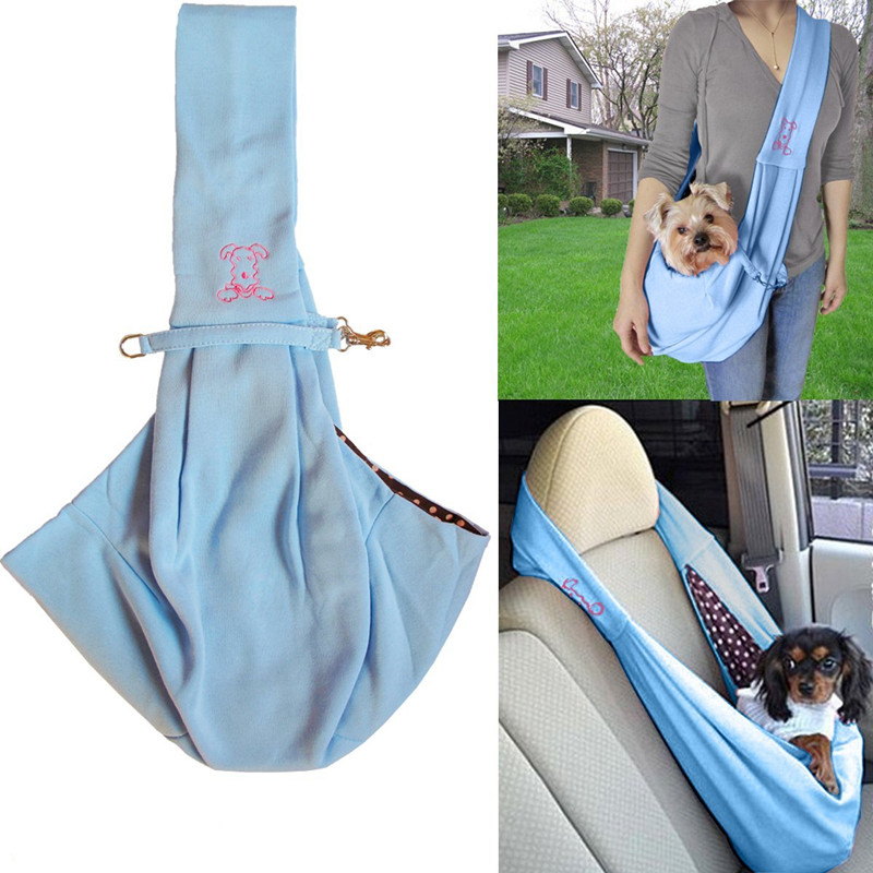 Hands-free Reversible Small Dog Cat Sling Carrier Bag Travel Tote Soft Comfortable Double-sided Pouch Shoulder Carry  Handbag