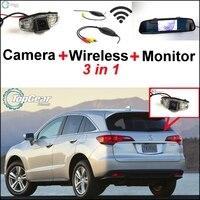 3 in1 Speciale Achteruitrijcamera + Draadloze Ontvanger + Spiegel Monitor Gemakkelijk Backup Parkeersysteem Voor Acura CSX RDX ILX ZDX