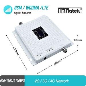 Image 4 - Hücresel sinyal güçlendirici 2G GSM 900 3G 2100 LTE 1800 Tri Band UMTS tekrarlayıcı cep telefonu 4G amplifikatör ev ofis kullanımı için