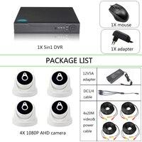 YiiSPO 4CH комплект камер видеонаблюдения для безопасности 1080 P AHD камеры видеонаблюдения HD Комплект HDMI, VGA OUT phone view indoor/водонепроницаемый P2P 2.0MP