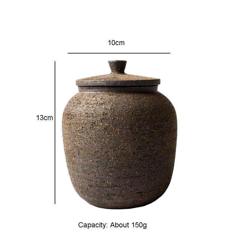 Retro China Tea Canister Coffee Bean Scented Tea Pu-er Tea Pots Jars Ceramic NEW