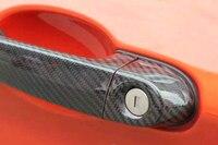 8 шт./компл. углеродного волокна сторона двери автомобиля ручка крышки со светодиодной отверстие Накладка для BMW F32 F33 F36 4 двери 2014 2015