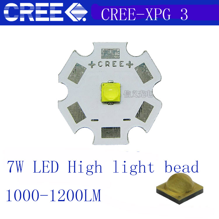 2pcs Cree XLamp XPG3 White/warmwhite 1W~7W  LED Light Lamp On 20mm/16mm/14mm/12mm/8mm Pcb