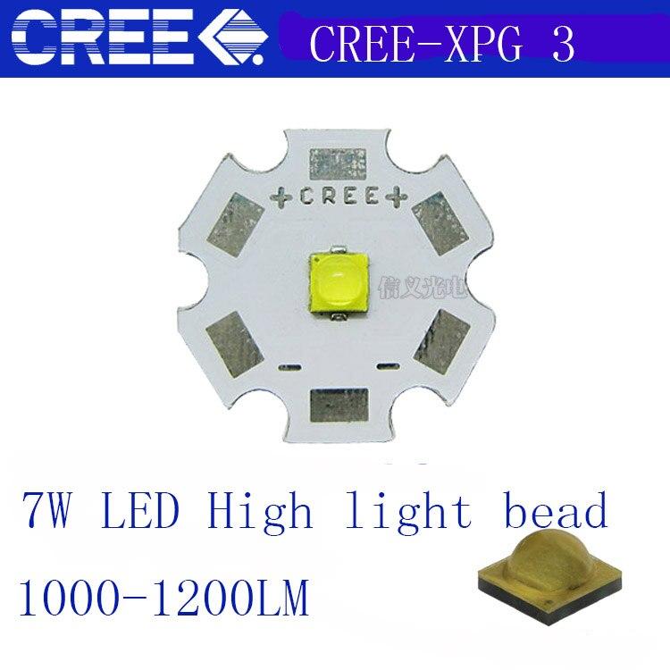 2pcs Cree XLamp XPG3 White/warmwhite 1W~7W  LED Light Lamp On 20mm/16mm/14mm/12mm/8mm Pcb