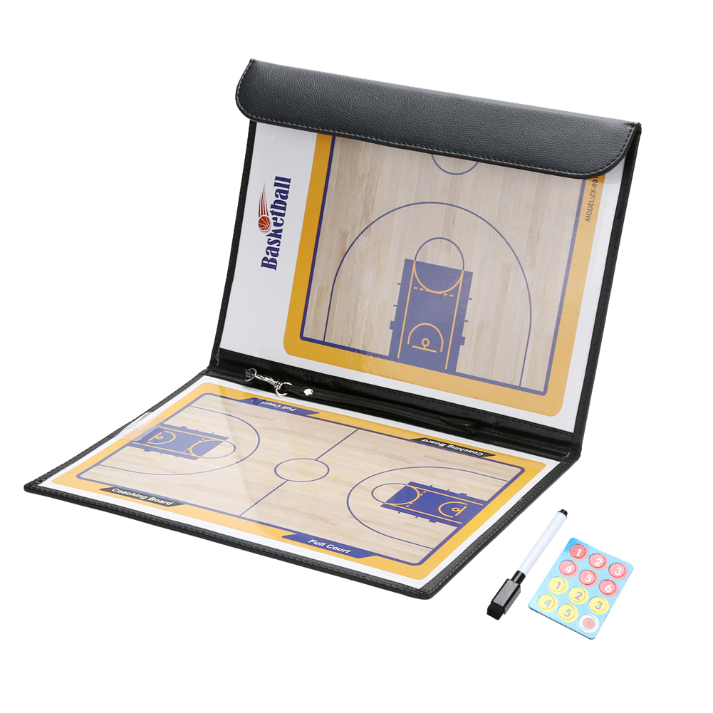 Basketball Coaching Board Double-sided Coaches Clipboard Dry Erase W/marker Basketball Strategy Board Tactics Luxury Version