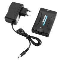 새로운 HDMI SCART를 복합 비디오 컨버터 1080 마력 + 5 볼트 1A DC EU 플러그 전원 공급 어댑터 브라운관 TV VHS VCR DVD 레코