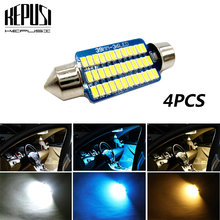 4x 31mm 36mm 39mm 41mm Festoon Canbus LED bulb 3014 C5W Auto Dome Light Car Interior Lamp license plate light Styling DC 12V