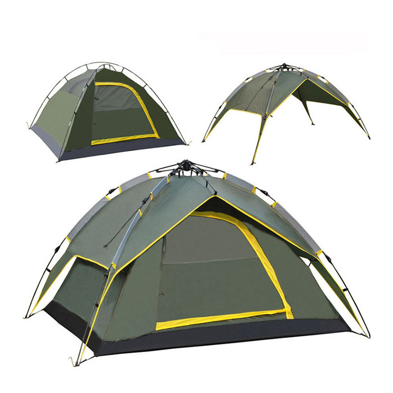 Outdoor 3-4 person traveling ultralight three-speed automatic tent than to open a large tent camping tent double feituo outdoor tent 3 4 person camping tent camping more than double rain canopy large outdoor tent 34