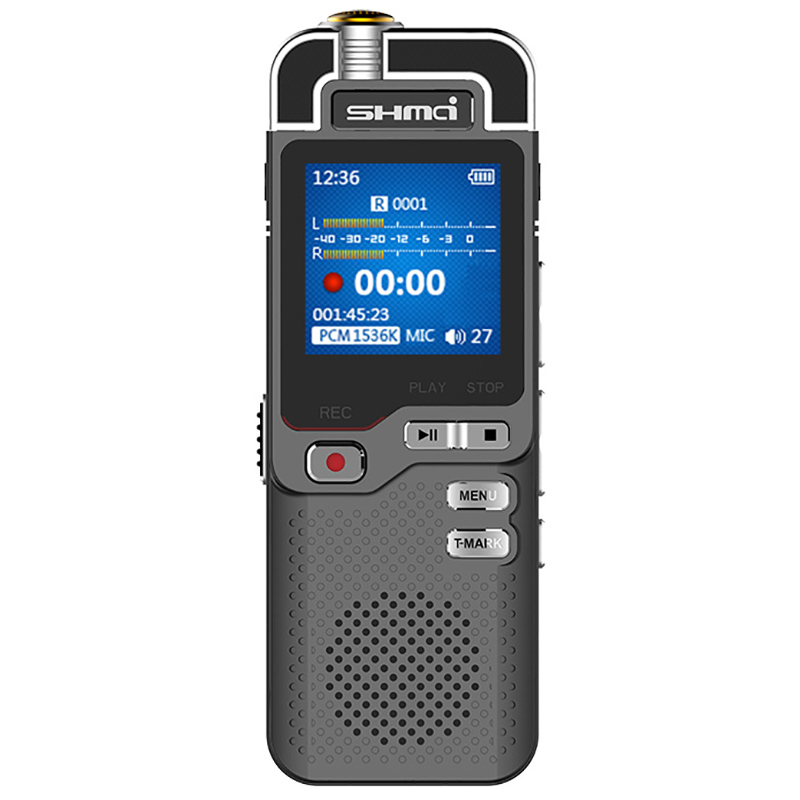 Shmci D60 Professional 1536 Kbps enregistreur vocal numérique mini Dictaphone ADC contrôle du bruit enregistreur Audio lecteur MP3