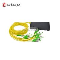 Singlemode 1x12 ABS Fiber Optic PLC Splitter With FC/APC Connector Fiber Length 1M