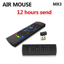 Hot MX3 Portable 2.4G Wireless Remote Control Keyboard Controller Air Mouse for Smart TS3V Android TV box mini PC HTPC