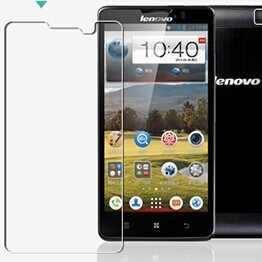 0.3mm Tempered Glass Film for Lenovo P780 0.2mm Round Border High Transparent Screen Protector Film with Clean Tools