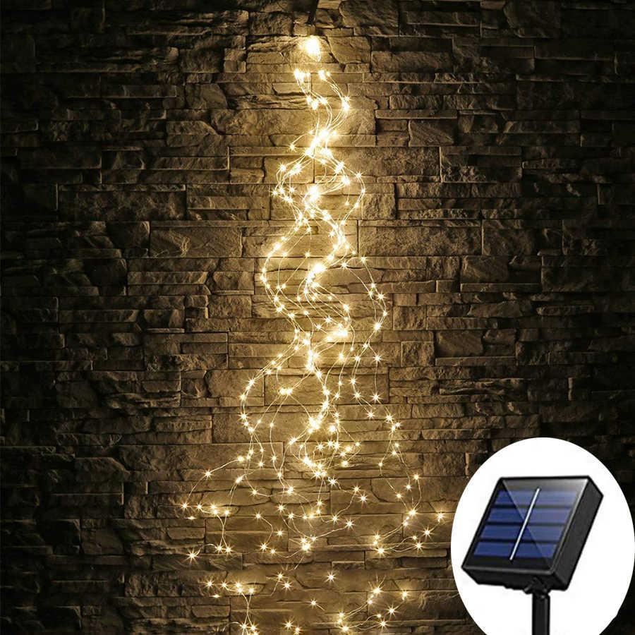 Батарея работает 2 м 5 веток 100 светодиодов огни в виде лозы медная проволока