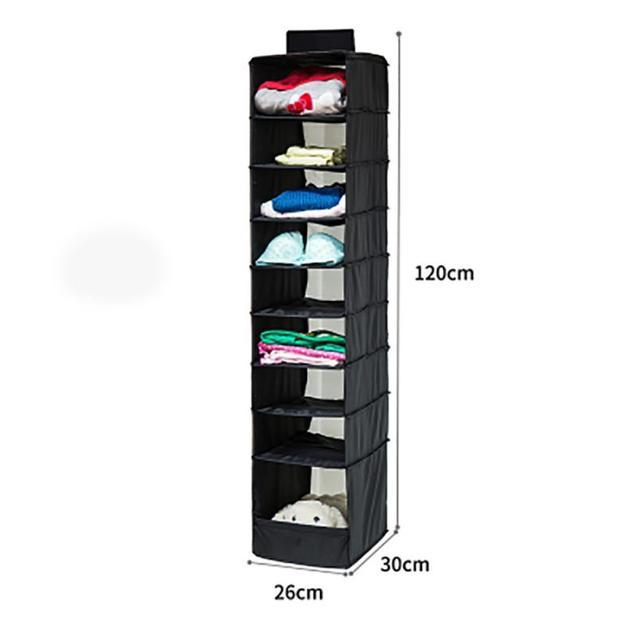 2017 hot sale 9 Section Shelves Hanging Wardrobe Shoe Garment Organiser  Storage Clothes
