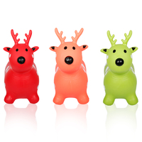 Kids Sports Toy Vaulting Horse Deer Inflatable Toys Horse Children Jumping Animal Environmental Thickening Ride On
