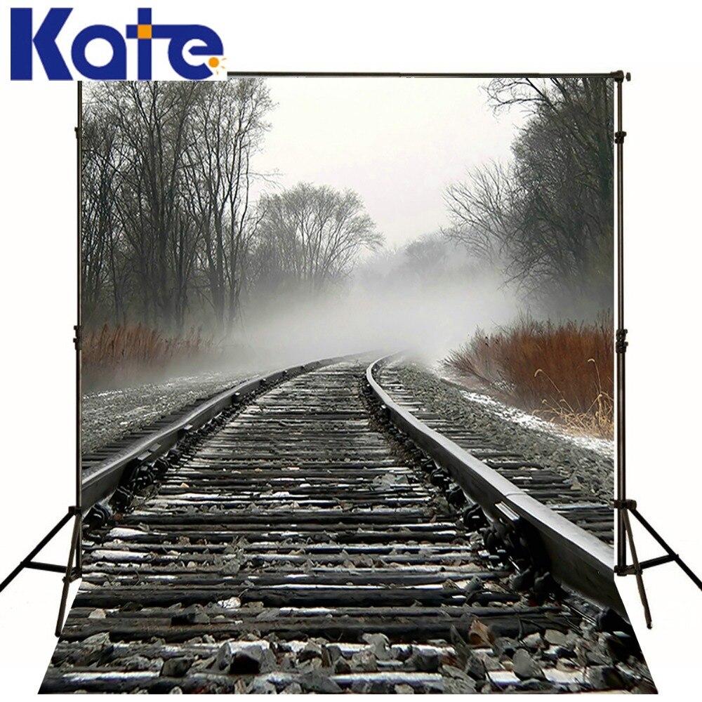 5*6.5FT(1500cm*2000cm) Background Railway Train Stones Photography Backdrops Photography Backdrop 3091 LK