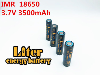 Liter energy battery 100% New Original IMR 18650B 3.7v 3500mah Lithium Rechargeable Battery 18650 Flashlight batteries image