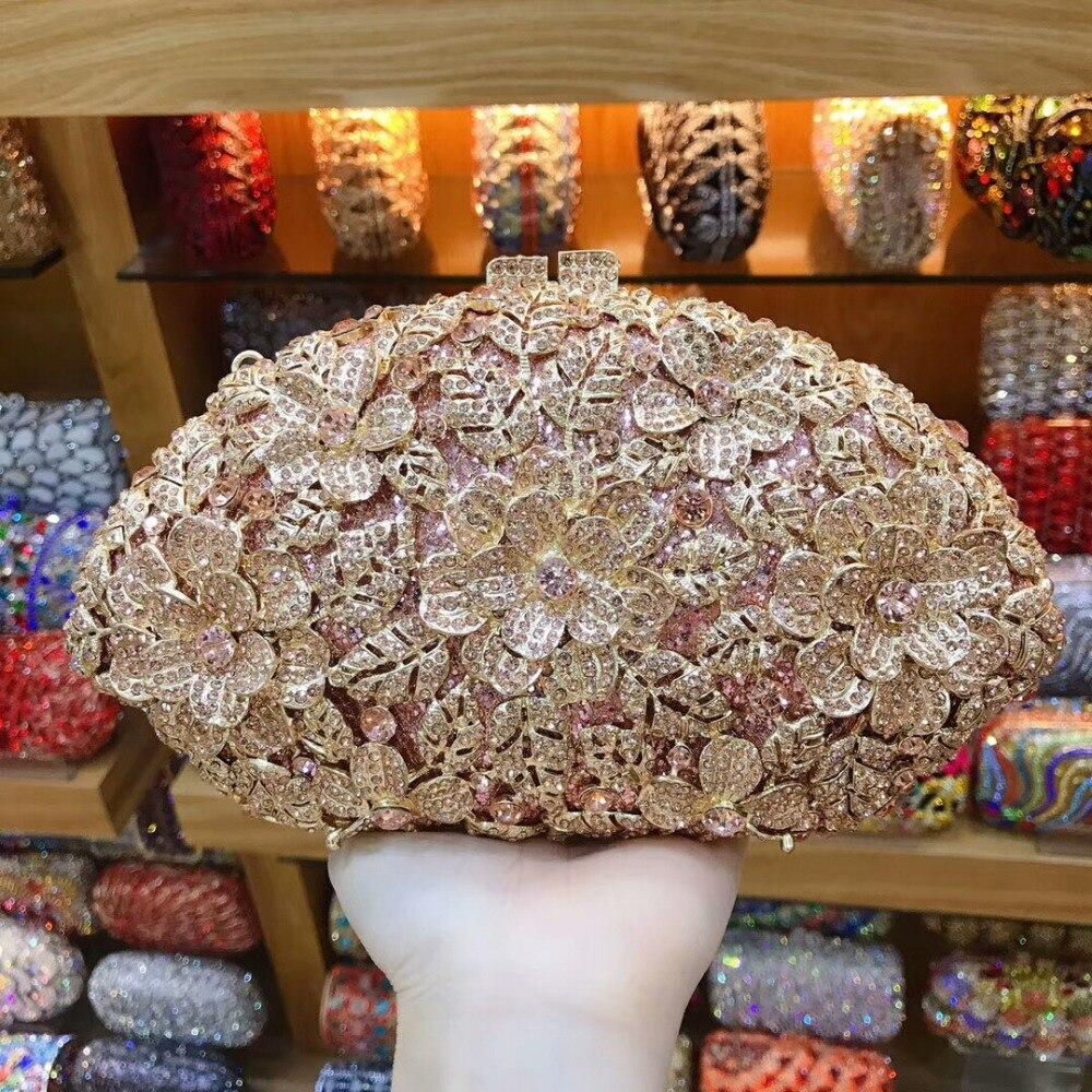 Mode femmes Bling téléphone jour embrayages champagne couleur métal mariage sac à main embrayage soirée sacs pour dames sac à main sac à bandoulière