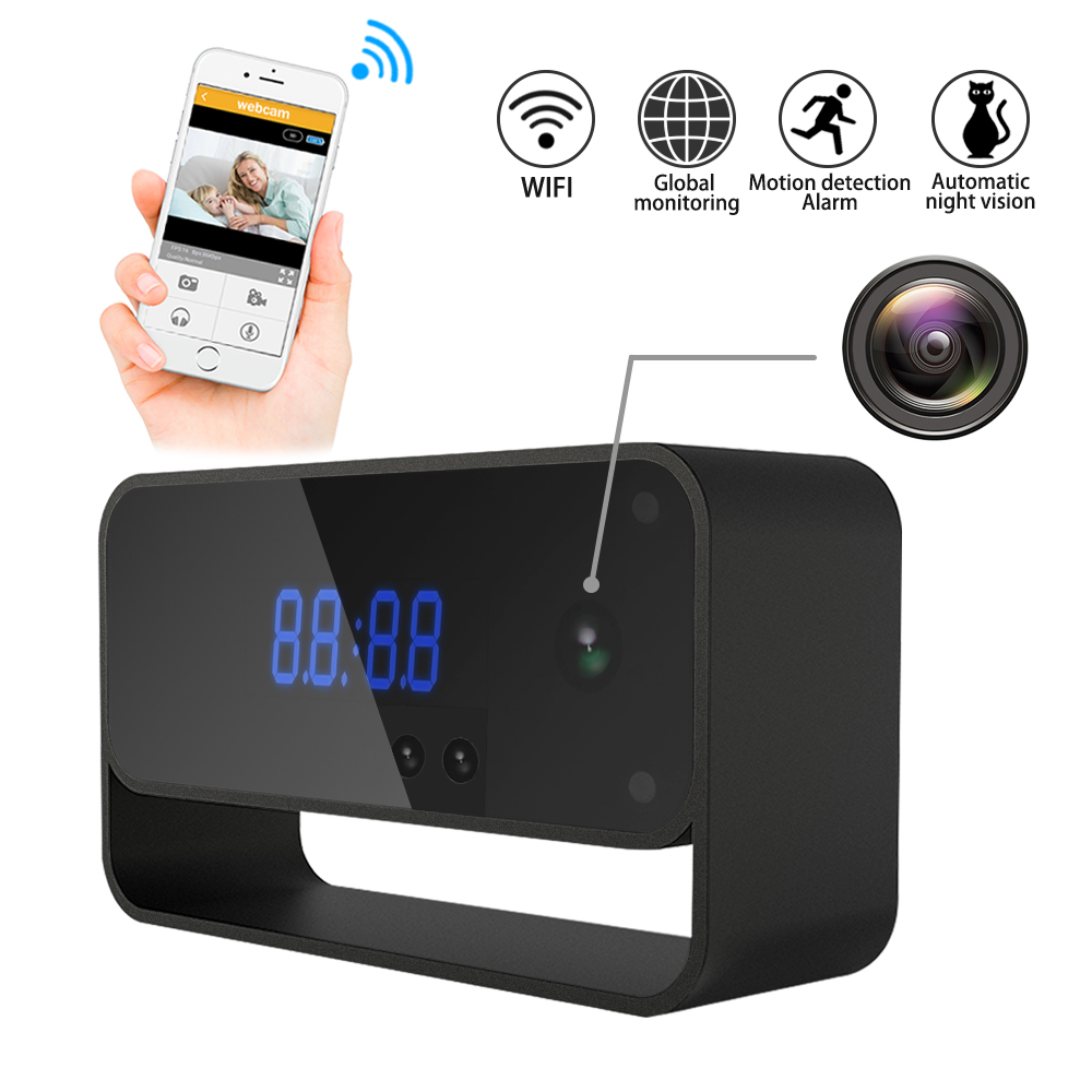 WIFI Camera Clock HD 1080P CCTV Wireless Security IP Cam for Home Indoor Cameras Starlight Auto Night Vision Remote View