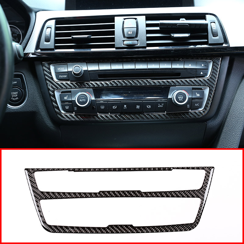Real Carbon Fiber For BMW 4 3 Series 2013-2018 Front Side Outlet Vent Trim Cover