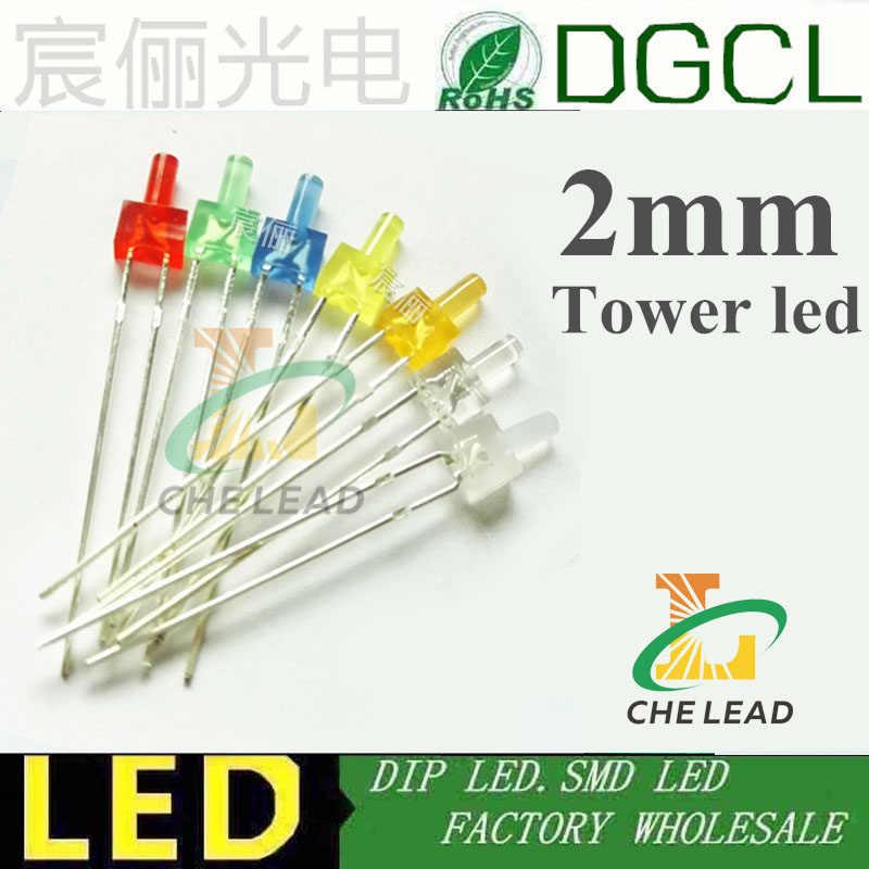 100pcs 1.8mm Diffused White-Orange Light LED Diodes DIP High Quality