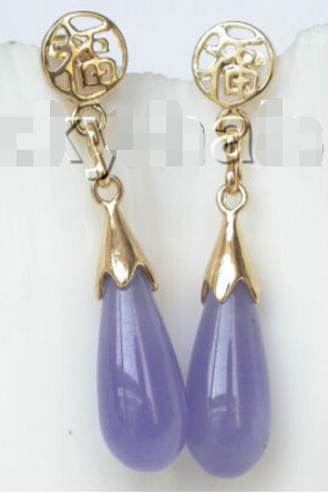 Free Shipping Aaa Natural Dangle 8 21mm Drop Purple Lavender Earrings Post J8862 In From Jewelry Accessories On Aliexpress Alibaba